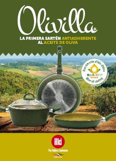 Olivilla la sartén al aceite de oliva hecha en Italia