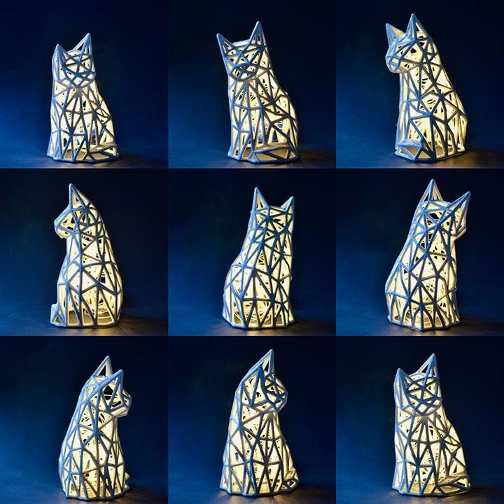 lámpara gato de Maia Ming