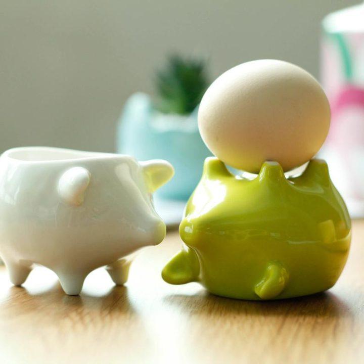 cerditos porta huevos de Maia Ming