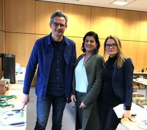Sebastian Bergne, Dr. Claudia Wasser and Kate Birch