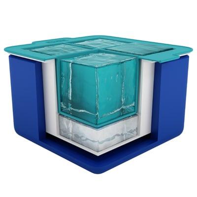 epare cubitos transparentes