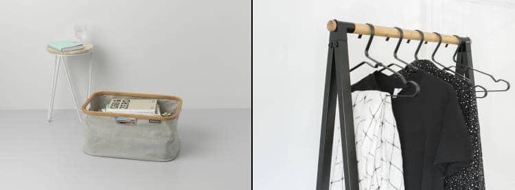 cestas de colada y perchas Linn de Brabantia