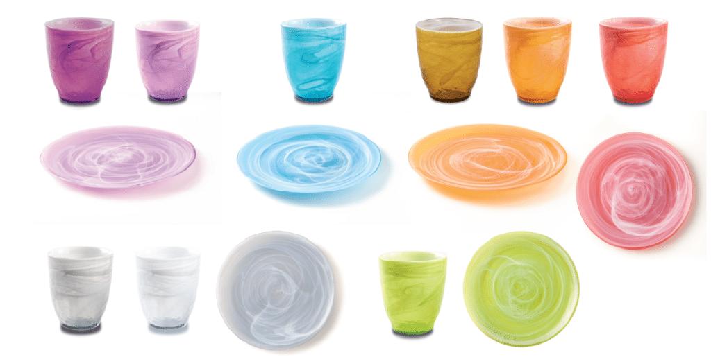 giannini vajillas verano ice colours