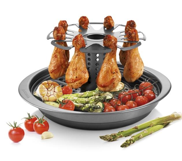 Soporte para asar pollo, DELÍCIA-portada