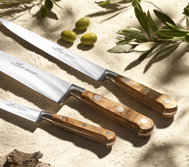 sabatier cuchillos Provencao con mango madera de Olivo